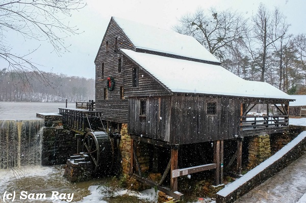 Yates Mill, December 2018, by Sam Ray