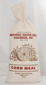 A bag of Yates Mill cornmeal