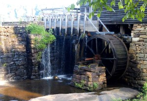 Yates Mill wheel and forebay